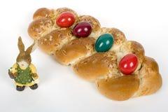 Easter entrançou a pastelaria dinamarquesa Fotos de Stock