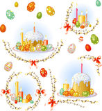 Easter equipment set. All main easter equipment in one set Royalty Free Stock Photos
