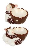 Easter сeramic egg cup, rabbit Royalty Free Stock Photos