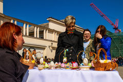 Easter ethno-fair in Uzhhorod Royalty Free Stock Photography