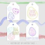 Easter etiqueta a coleção Fotografia de Stock Royalty Free