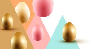 Easter Event Layout Design stock photo