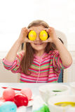 Easter eye happy Stock Images