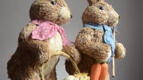 Easter för garnering, för kaniner och för ägg för påskkaniner begrepp stock video