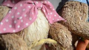 Easter för garnering, för kaniner och för ägg för påskkaniner begrepp lager videofilmer