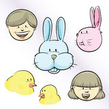 Easter Faces Royalty Free Stock Photo