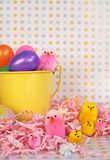 Easter Family. Display of an easter setting of a family of chics royalty free stock image