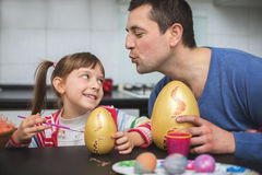 Easter and family concept Stock Images
