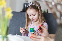 Easter, family, holiday and child concept Stock Images