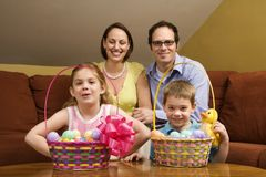 Easter family portrait. Royalty Free Stock Photography