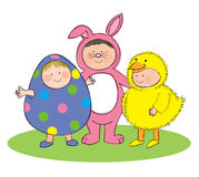 Easter fancy dress Stock Photos