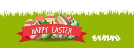 Easter feliz Bandeira da mola ilustração royalty free
