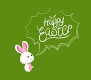 Easter feliz borbulha coelho ilustração do vetor