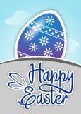 Easter feliz com ilustração do vetor do ovo Fotografia de Stock Royalty Free