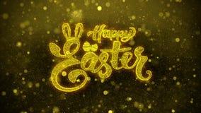 Easter feliz deseja o cartão de cumprimentos, convite, fogo de artifício da celebração