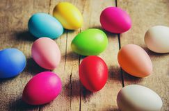 Easter feliz Foco seletivo fotografia de stock royalty free