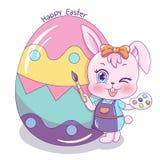 Easter_10 feliz ilustração royalty free