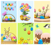 Easter Festive Cartoon Vector Concepts Collection Stock Images