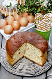 Easter festive yeast cake Stock Photo