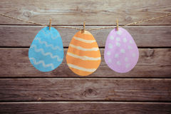 Easter figured paper eggs Royalty Free Stock Photography