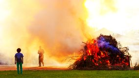 Easter fire royalty free stock photo