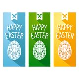 Easter flat flyer Stock Images