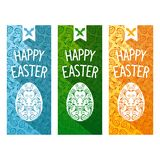 Easter flat flyer Royalty Free Stock Photo