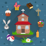 Easter flat icons Royalty Free Stock Image