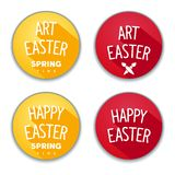 Easter flat stickers Stock Image