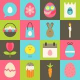 Easter flat stylized icon set 2 Royalty Free Stock Photo