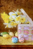 Easter Floral Arrangement Royalty Free Stock Photo