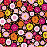 Easter floral background. An illustration for your design project Stock Images