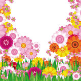 Easter Floral background. An illustration for your design project Royalty Free Stock Image
