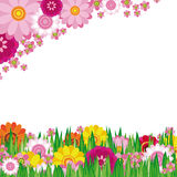 Easter Floral background Royalty Free Stock Images