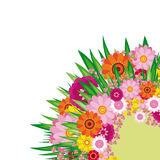 Easter Floral background Stock Photo