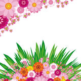 Easter Floral background stock photography