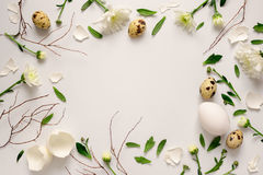 Easter floral background Stock Photos