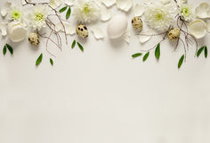 Easter floral background Stock Images