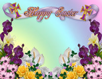 Easter floral border Stock Photos