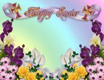 Easter floral border stock photos