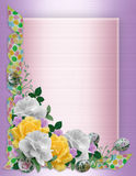 Easter border roses stock images