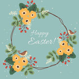 Easter floral card Royalty Free Stock Photo