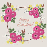 Easter floral card Royalty Free Stock Photography