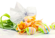 Easter floral composition Stock Photo