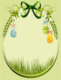Easter floral frame Royalty Free Stock Photos