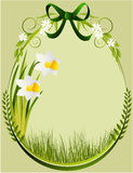 Easter floral frame Royalty Free Stock Image