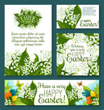 Easter floral greeting card and banner template Royalty Free Stock Photos