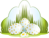 Easter floral illustration stock image