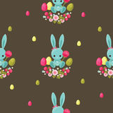 Easter floral seamless pattern. Stock Photos