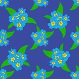 Easter Floral Seamless Pattern Stock Photos
